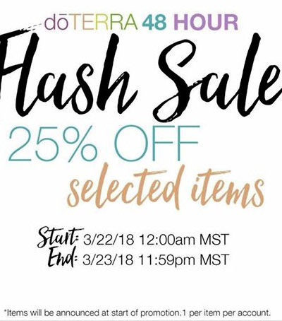 doTERRA Flash Sale Is Coming!!!